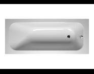 55200013000 - Balance 165x70 cm Dikdörtgen/Tek Taraflı Aqua Soft Easy-Krom Jetli, Çift Tutamaklı