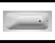 55210044000 - Balance 160x70 cm Dikdörtgen/Tek Taraflı ,Kumandasız Sifon,Ayak, Çift Tutamaklı