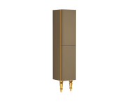 55220 - Gala Classic Tall Unit Beige High Gloss-Gold (Right)