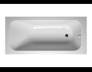 55220012000 - Balance 160x75 cm Dikdörtgen/Tek Taraflı Aqua Soft Easy-ABS Jetli, Çift Tutamaklı