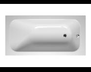 55240012000 - Balance 150x75 cm Dikdörtgen/Tek Taraflı Aqua Soft Easy-ABS Jetli, Çift Tutamaklı