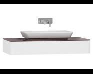 55341 - T4 Short Counter Unit 100 cm, Matte White