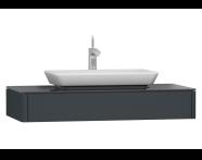 55342 - T4 Short Counter Unit 100 cm, Matte Grey