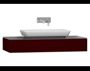 55343 - T4 Short Counter Unit 100 cm, Matte Burgundy