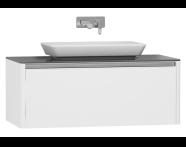55347 - T4 High Counter Unit 100 cm, Matte White