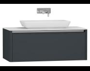 55348 - T4 High Counter Unit 100 cm, Matte Grey
