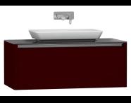 55349 - T4 High Counter Unit 100 cm, Matte Burgundy