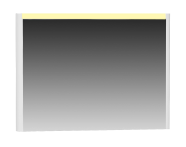 55361 - T4 Illuminated Mirror, 100 cm, Matte White