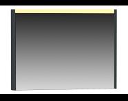55362 - T4 Illuminated Mirror, 100 cm, Matte Grey