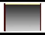 55363 - T4 Illuminated Mirror, 100 cm, Matte Burgundy