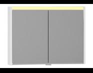 55364 - T4 Illuminated Mirror Cabinet, 100 cm, White High Gloss