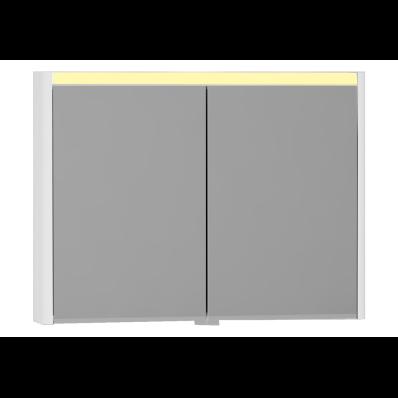 T4 Aydınlatmalı Dolaplı ayna, 100 cm, Parlak Beyaz