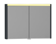 55368 - T4 Illuminated Mirror Cabinet, 100 cm, Matte Grey
