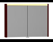 55369 - T4 Illuminated Mirror Cabinet, 100 cm, Matte Burgundy