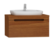 55470 - Folda Washbasin Unit 80 cm (Walnut)+ Concept 100 Basin