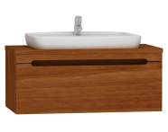 55472 - Folda Washbasin Unit 100 cm (Walnut)+ Concept 100 Basin