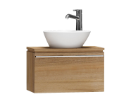 55655 - System Fit Washbasin Unit, 60x34x37 cm, Waved Natural Wood