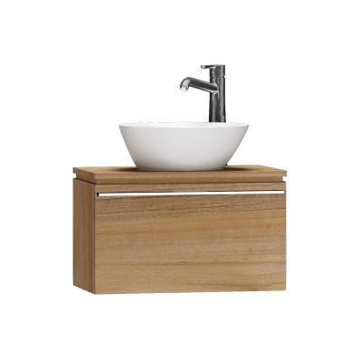 System Fit Washbasin Unit, 60x34x37 cm, Waved Natural Wood