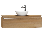 55679 - System Fit Washbasin Unit, 120x34x37 cm, Middle, Waved Natural Wood