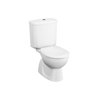Arkitekt Close-coupled WC Pan, open back, 67 cm, vertical outlet, white