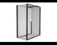 55940004000 - Notte Compact Shower Unit 160x90 cm Left, with Door, Music System, Matte Grey