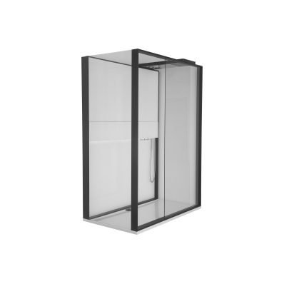 Notte Compact Shower Unit 160x90 cm Left, with Door, Music System, Matte Grey