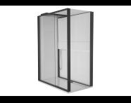 55945005000 - Notte Kompakt Duş Ünitesi 160x90 cm Sağ, Kapılı, Müzik Sistemi, Mat Siyah