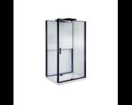 55950104000 - Notte Compact Shower Unit 120x90 cm Left, with Door, Matte Black