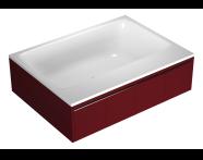 55970009000 - T4 190x140 cm Rectangular/Double-Sided Aqua Soft