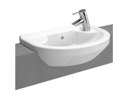 5597B003-0028 - S50 Compact Round Compact Semi-Recessed Basin, 55 cm