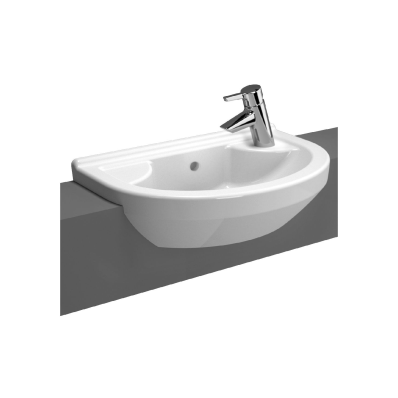 S50 Compact Round Semi Recessed Basin 55 Cm Vitra Uk