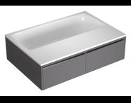 55980009000 - T4 190x130 cm Rectangular/Double-Sided Aqua Soft