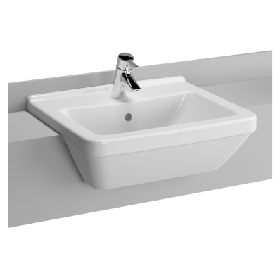 S50 Square Semi-Recessed Basin, 55 cm