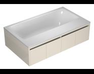 55990011000 - T4 190x110 cm Rectangular/Double-Sided Aqua Soft Easy-Chrome with Jet