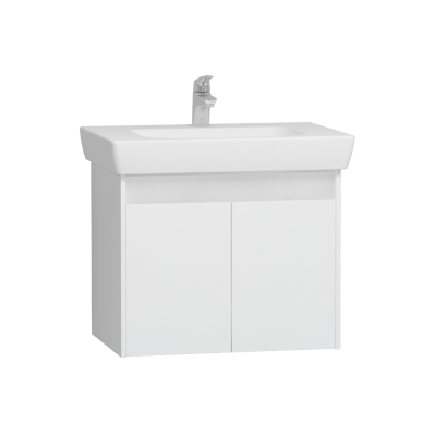 Step Washbasin Unit, 65 cm, White High Gloss