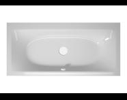 56000016000 - T4 190x90 cm Rectangular/Double-Sided Aqua Maxi, with 1 Light