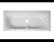 56010016000 - T4 180x80 cm Rectangular/Double-Sided Aqua Maxi, with 1 Light