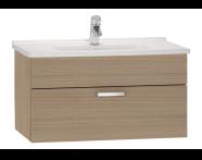 56069 - S50 Washbasin Unit, 80 cm (Golden Cherry)