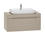 56083 - Folda Washbasin Unit 80 cm (Light Oak)+ Concept 100 Basin