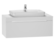 56084 - Folda Washbasin Unit 100 cm (White High Gloss) + Concept 100 Basin