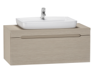56085 - Folda Washbasin Unit 100 cm (Light Oak)+ Concept 100 Basin