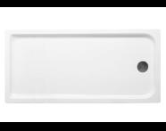 56100005000 - Kimera 150x75 cm Dikdörtgen Flat(Ayaklı ve Panelli) , Ayak, Sifon