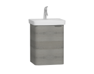 56112 - Nest Single Doorı Washbasin Unit 45 cm, Grey Natural Oak Sol