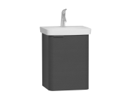 56113 - Nest Single Doorı Washbasin Unit 45 cm, Anthracite, Right