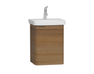 56114 - Nest Single Doorı Washbasin Unit 45 cm, Waved Natural Wood, Right