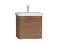 56117 - Nest 2 Doors Washbasin Unit 60 cm, Waved Natural Wood