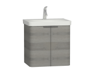56118 - Nest 2 Doors Washbasin Unit 60 cm, Grey Natural Oak