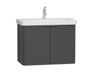 56119 - Nest 2 Doors Washbasin Unit 80 cm, Anthracite