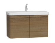 56123 - Nest 2 Doors Washbasin Unit 100 cm, Waved Natural Wood