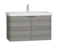 56124 - Nest 2 Doors Washbasin Unit 100 cm, Grey Natural Oak